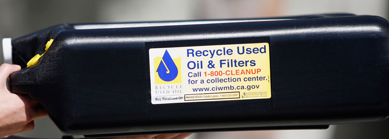 Motor oil and filter recycling city of oxnard for How to recycle used motor oil