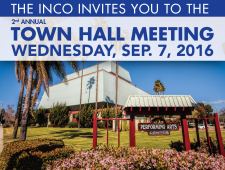 INCO town hall banner