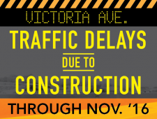 Traffic Delays Victoria Ave Construction 091216