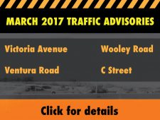 March 2017 Traffic Advisories
