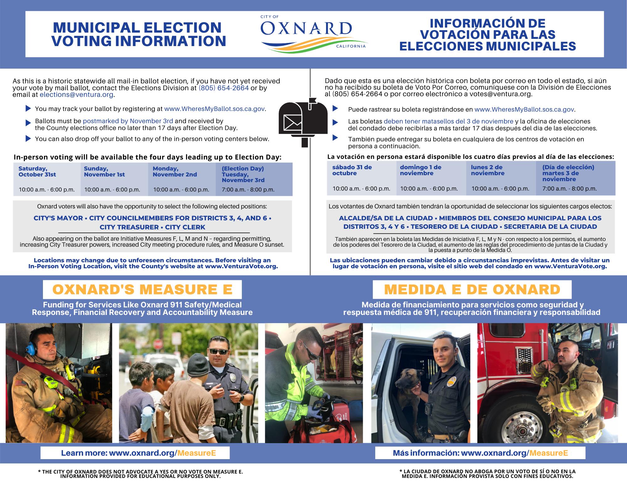 Measure E — City Of Oxnard