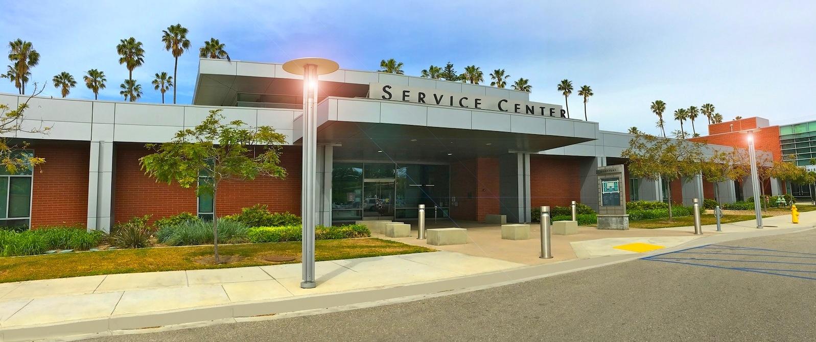 Service Center Parking Lot Entrance